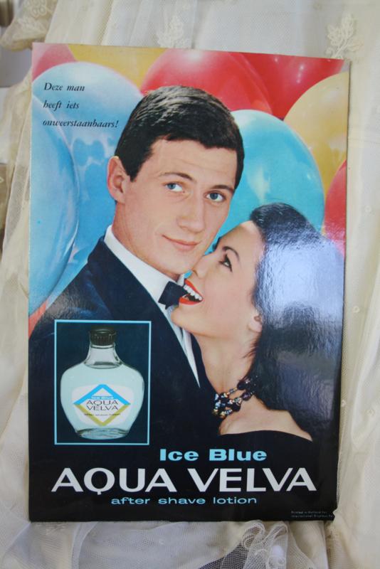 """mooie kartonnen reclameplaat """" Aqua Velva"""""""