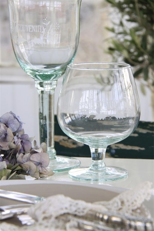 """prachtig groot """" Brandy"""" glas met tekst van Jeanne d` Arc Living"""