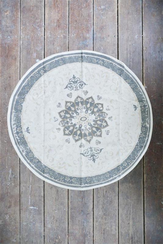Carpet dusty flower doorsnede 120 cm