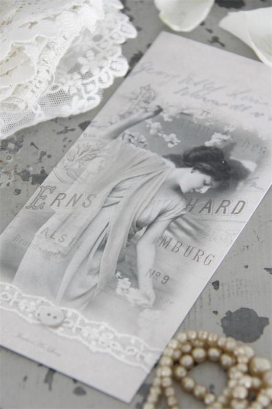 fraaie papieren boekenlegger met mooie dame van Jeanne d'Arc Living