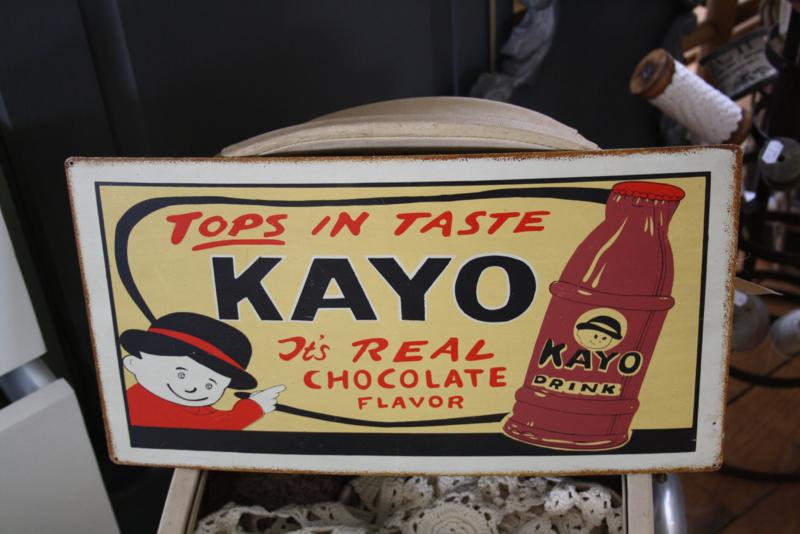 "leuke metalen plaat ""Kayo"""