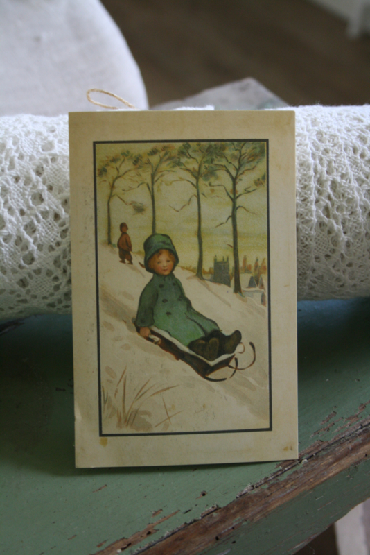 """schattig kaartje """"van de berg af"""
