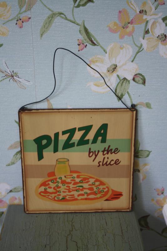 """metalen plaat """"Pizza"""""""