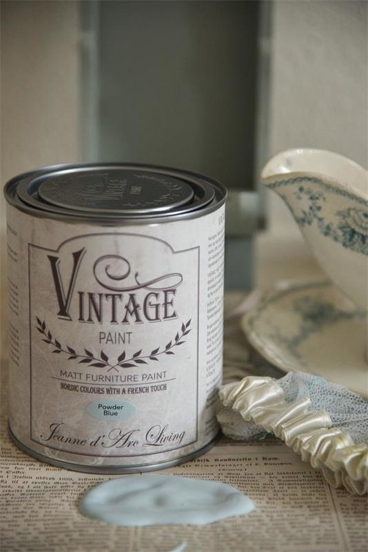 "Vintage paint ""Powder blue"" 700 ml"