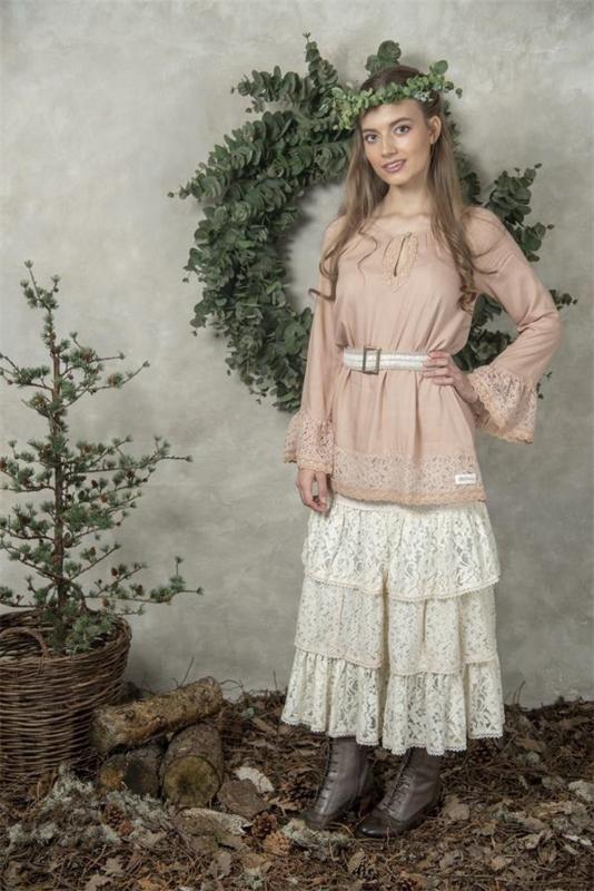 Skirt Memorable joy  Cream