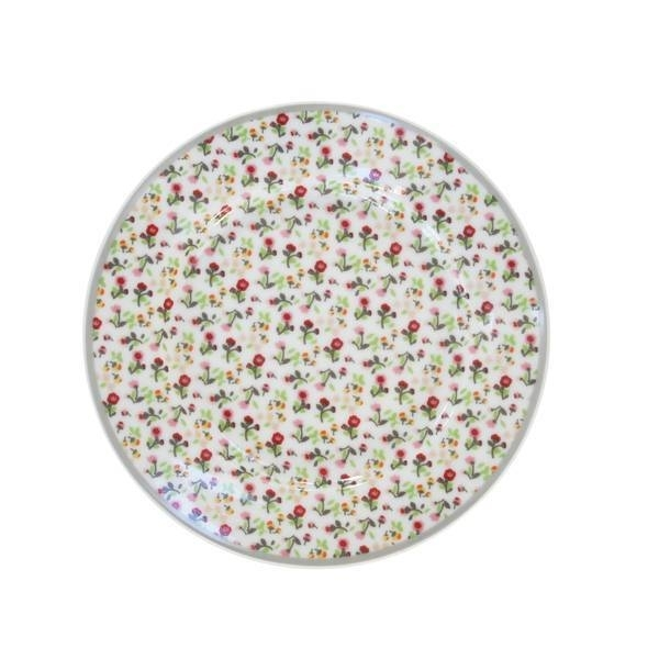 """Happy plate """"Flowers in white"""""""