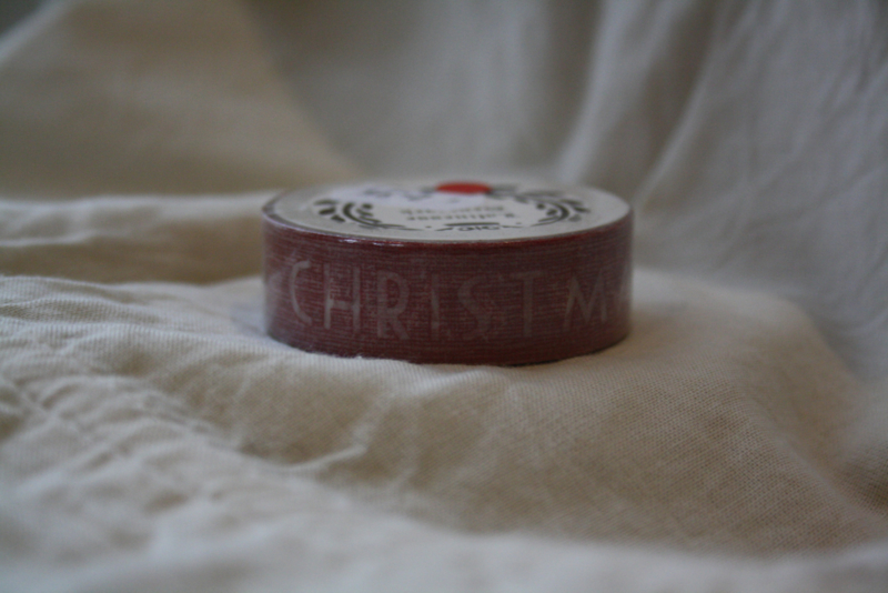 "rolletje masking tape ""Merry christmas"""