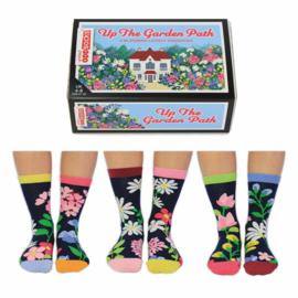 Oddsocks - Cadeaudoos Garden met 6 verschillende gebloemde sokken - maat 37-42
