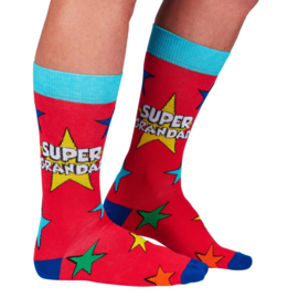 Opa sokken - Grootvader sokken - Super Grandad - maat 39/46