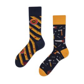 Many Mornings Mismatched sokken - Doe Het Zelf Handyman - maat 43 - 46
