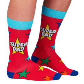 Papa sokken - Vader sokken - Super Dad - maat 39/46