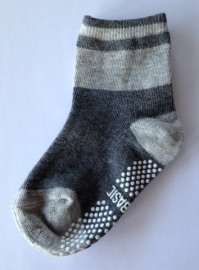 4814 antislip sokken lichtgrijs met middengrijs voetje