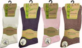 Bamboe sokken 3 paar (kleuren naar keuze), non elastic boorden  mt 37 - 41