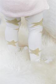 Baby maillot Off White met goudkleurige sterren - maat 56 tot 62