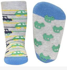 Anti slip sokken Ewers Auto grijs maat 18-19