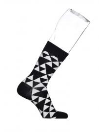 Bonnie Doon Triangle heren sokken zwart wit  mt 40 - 46