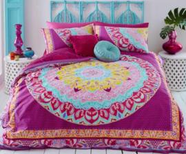 Paisley Mandala Pink dekbedovertrek - Lits-jumeaux maat met 2 kussenslopen