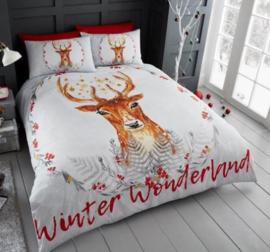 Hert dekbedovertrek Winter Wonderland 2 persoons