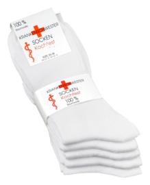 100% katoenen diabetes sokken, set 5 paar, zonder knellend boord en met zachte teennaad , mt 39 - 42