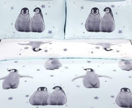 Pinguins - Starry Penguins - tweepersoons met 2 x kussensloop
