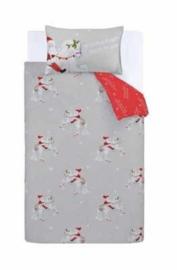 Kerst dekbedovertrek Eenhoorn 1 persoons met 1 kussensloop