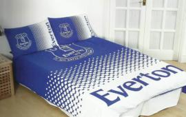 Everton dekbedovertrek blauw wit tweepersoons met 2 kussenslopen