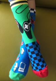 Oddsocks - Mismatched sokken - Cadeaudoos met 6 verschillende Odd Socks sokken - Game Over - maat 30,5 tot 38