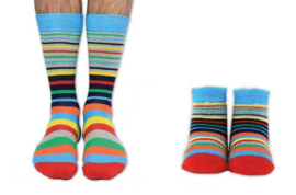 Cadeaudoosje met vader / kind sokken - Daddy and Me