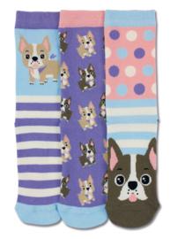 Oddsocks - Mismatched verschillende sokken - Woof - 3 sokken - maat 30,5 tot 38,5