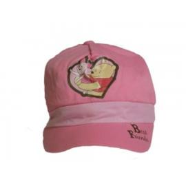 Zonnecap Winnie the Pooh roze - maat  6/8 jaar