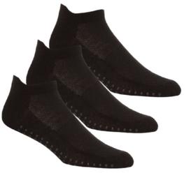Antislip sport sokken -yoga -pilates - gym - maat 39/46 set van 3 paar zwart
