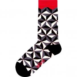 Ballonet Prism dames sokken mt 36 - 40 grijs,zwart, offwhite en rood