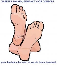 Diabetes dames sokken 3 paar in effen zwart, non elastic boorden en handgenaaide teennaad , mt 37 - 42