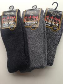 Thermosokken 30% wol, zonder knellend boord, set van 3 paar, grijs mix, maat 39 - 45