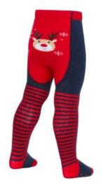 baby maillot blauw met rood en rendier afbeelding