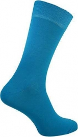 Neon blauwe / turquoise Rock 'n Roll teddy sokken in maat 39 - 46
