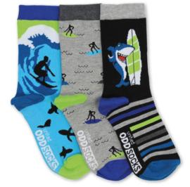 Oddsocks - Mismatched verschillende sokken - Surfer - 3 sokken - maat 31 tot 38