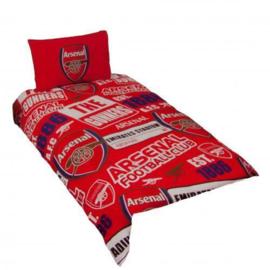 Arsenal voetbal dekbedovertrek eenpersoons