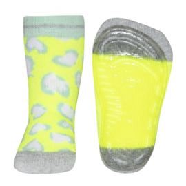 Ewers SOFTSTEP anti slip sokken leopard geel  - maat 21-22