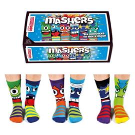 Oddsocks - Mismatched sokken - Cadeaudoos met 6 verschillende sokken - The Mashers - maat 31 tot 39
