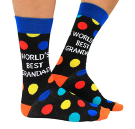 Opa sokken - World's best Grandad - maat 39/46