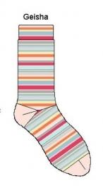 Bonnie Doon Glitter streepjes Geisha dames sokken mt 36 - 42