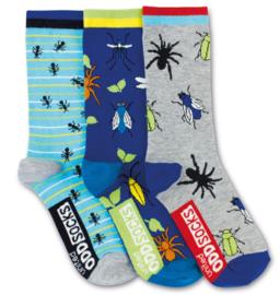 Oddsocks - Mismatched verschillende sokken - Spider - 3 sokken - maat 30,5 tot 38,5