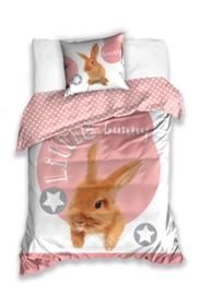 Konijntjes dieren dekbedovertrek Little Bunny