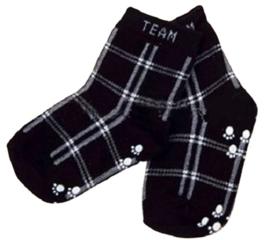 4682 antislip sokken zwart geruit maat 18-23