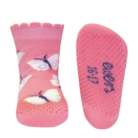 Ewers anti slip sokken Krabbelfix rose vlinder maat 17-18