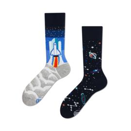 Many Mornings Mismatched sokken - Ruimtevaart - maat 39 - 42