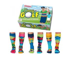 Oddsocks - Crazy  Golf - Cadeaudoos met 6 verschillende mismatched sokken  - maat 39-46
