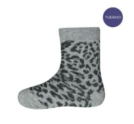 Ewers Thermo sokken Luipaard grijs maat 17-18
