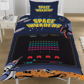 Space Invaders dekbedovertrek - eenpersoons met 1 kussensloop